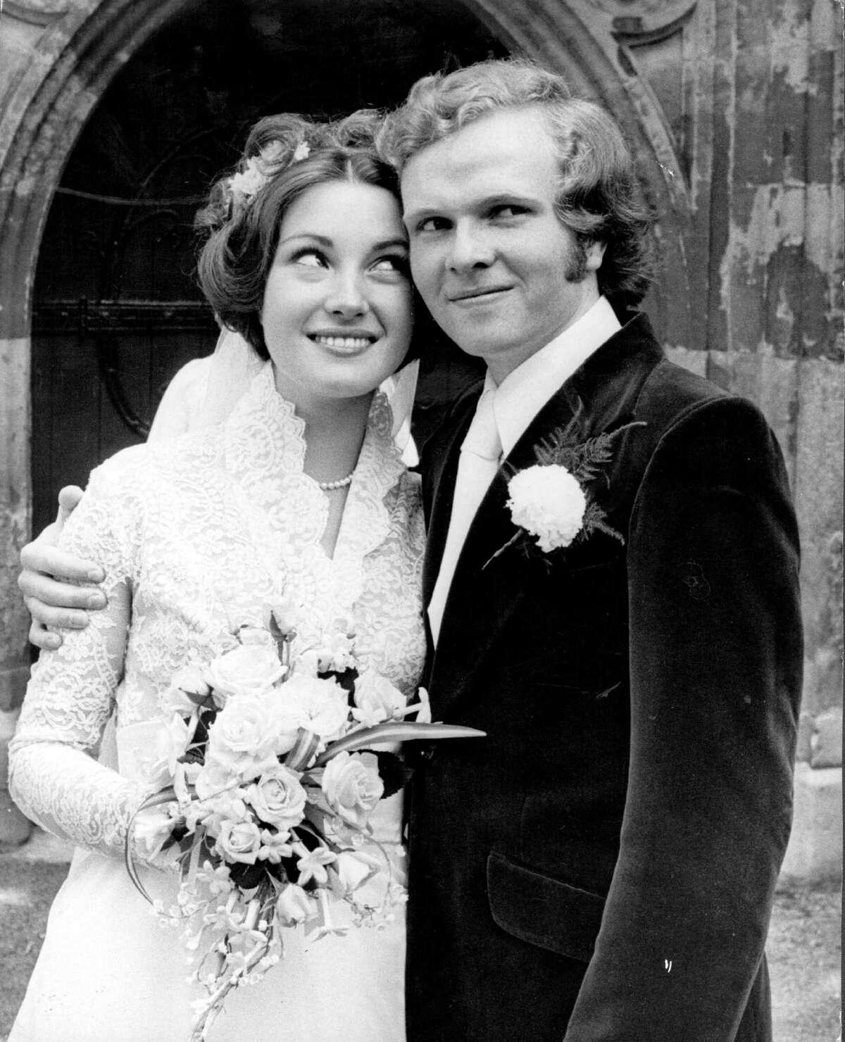 1971: Seymour and Michael Attenborough, son of Richard Attenborough, on their wedding day.