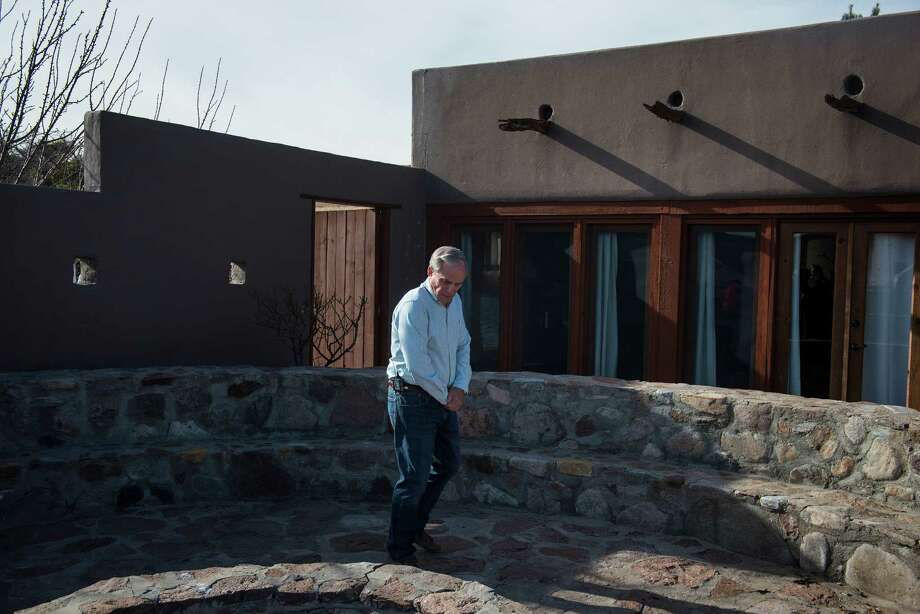 "George Van Etten, a property manager at Cibolo Creek Ranch, shows reporters  the Ranch house the day following the death Supreme Court Justice Antonin Scalia at the West Texas Resort ranch February 14 , 2016 in Shafter, Texas. Justice Scalia stayed in the ""El Presidente"" suite, shown behind Van Etten, this past Friday night, he was found Saturday morning to have died, not responding to those who tried to wake him. Photo: Matthew Busch, Getty Images / 2016 Getty Images"