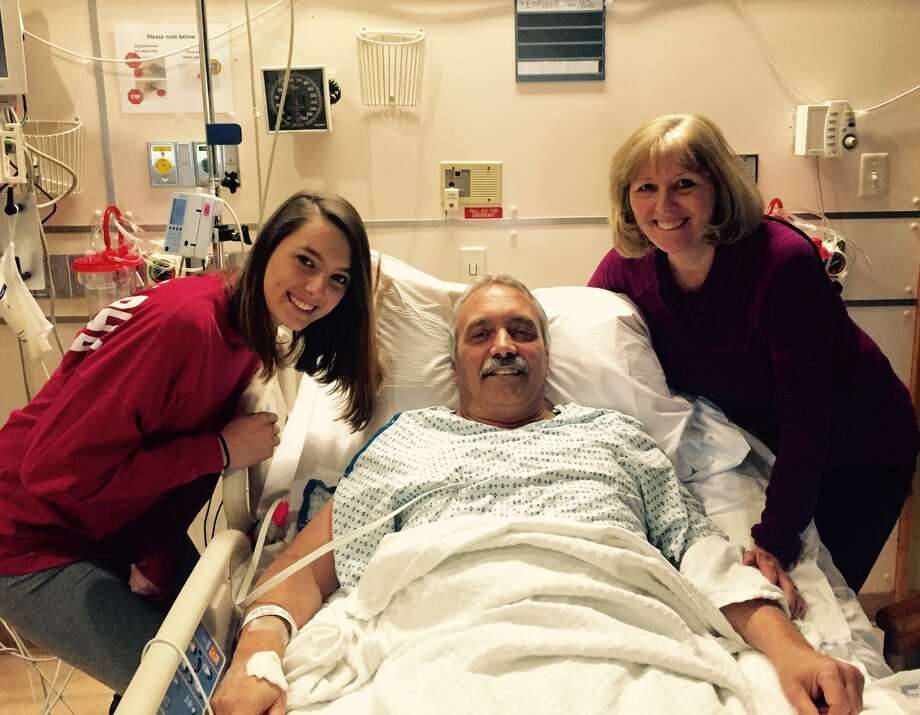 John Pesavente, center, of Bridgeport, had a heart transplant Sunday night at Yale-New Haven Hospital Photo: Contributed / Contributed / Connecticut Post