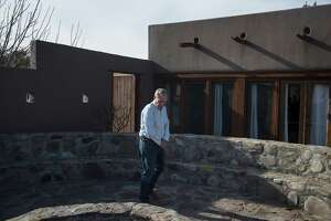 George Van Etten, a property manager at Cibolo Creek Ranch, on Sunday examines the Ranch house where Supreme Court Justice Antonin Scalia was found dead in bed the day before.