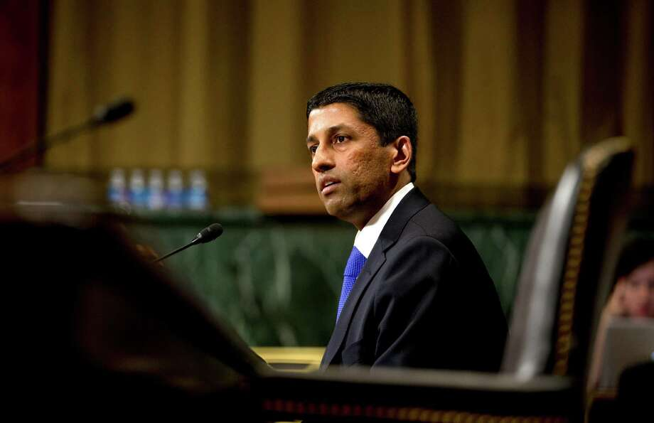 Sri Srinivasan, a judge of the United States Court of Appeals for the District of Columbia Circuit and a potential Supreme Court nominee, in Washington, April 10, 2013. The death of Justice Antonin Scalia in the midst of a presidential election year has set up a dilemma for President Barack Obama and his legal advisers, who must weigh the best person to put forward, knowing that Republican Senators may block that nominee no matter who he or she is. Photo: DOUG MILLS /New York Times / NYTNS