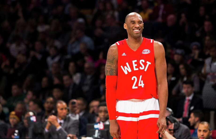 Western Conference's Kobe Bryant, of the Los Angeles Lakers, (24) reacts during first half NBA All-Star basketball action in Toronto on Sunday, Feb. 14, 2016. (Mark Blinch/The Canadian Press via AP) Photo: Mark Blinch, SUB / Associated Press / The Canadian Press