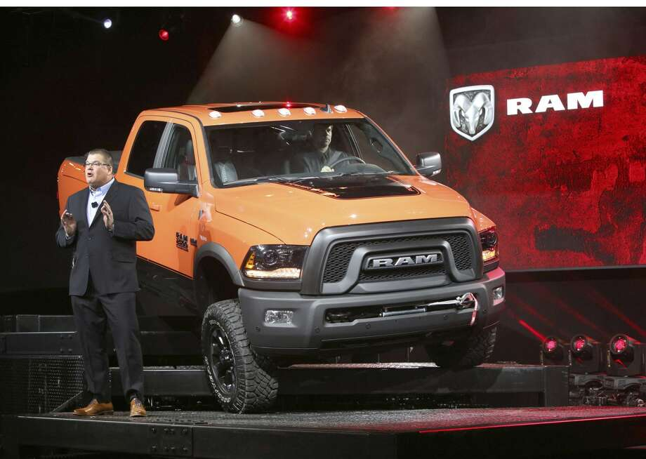 Bob Hegbloom, Head of Ram Truck Brand, FCA North America, unveiled the 2017 Ram Power Wagon at the Chicago Auto Show. The ultimate off-road truck, 2017 Ram Power Wagon features a number of off-road specific enhancements, including: a unique suspension creating 14 inches of ground clearance and more than two inches of lift; a best-in-class 410 horsepower, 6.4-liter HEMI(R) V-8 engine; locking differentials; a12,000-lb. electric winch; unique 17-inch wheels, and 33-inch Goodyear Wrangler DuraTrac tires. (PRNewsFoto/FCA US LLC) Photo: Associated Press / FCA US LLC