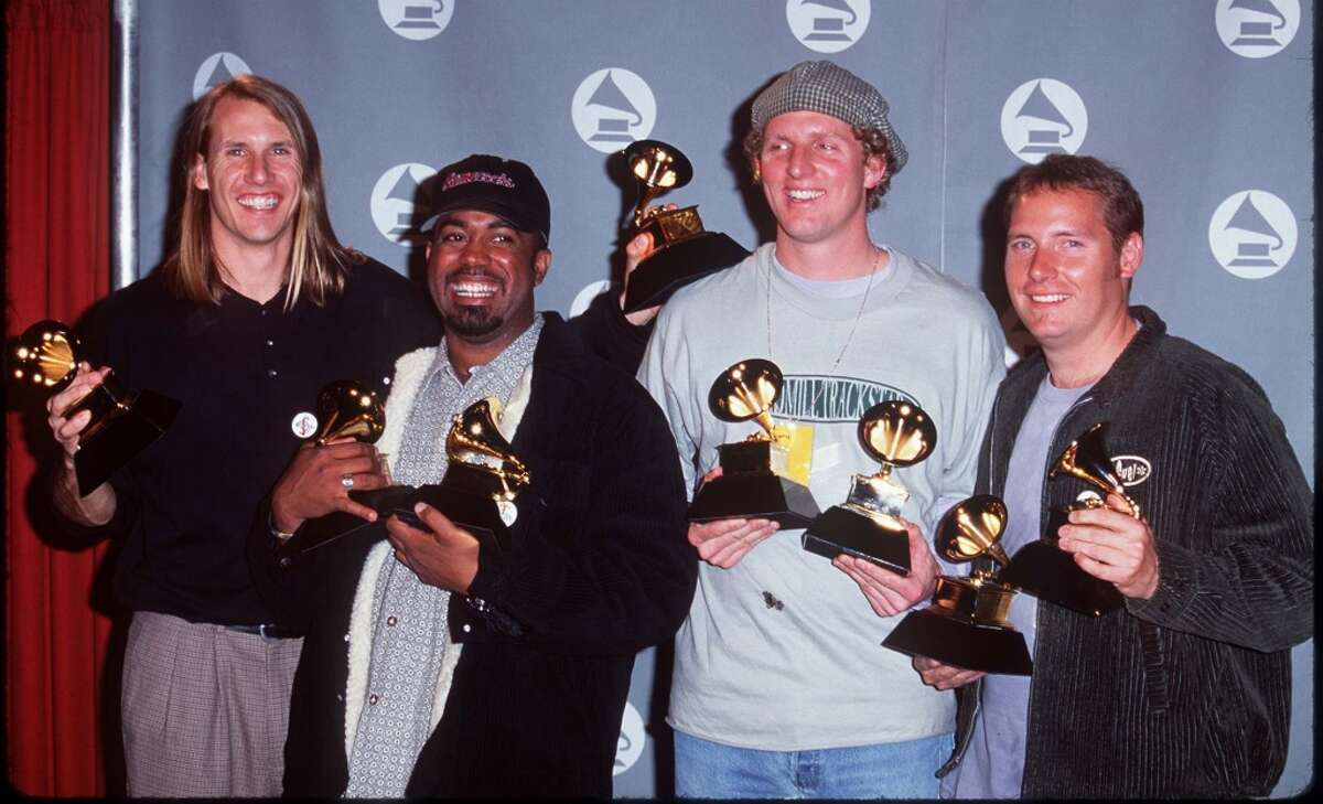 Hootie & the Blowfish during The 38th Annual GRAMMY Awards - Press Room at Shrine Auditorium on Feb. 28, 1996 in Los Angeles.