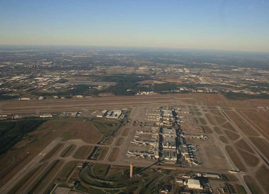 Bush Intercontinental Airport, viewed from the east, in January 2016. Photo: Bill Montgomery