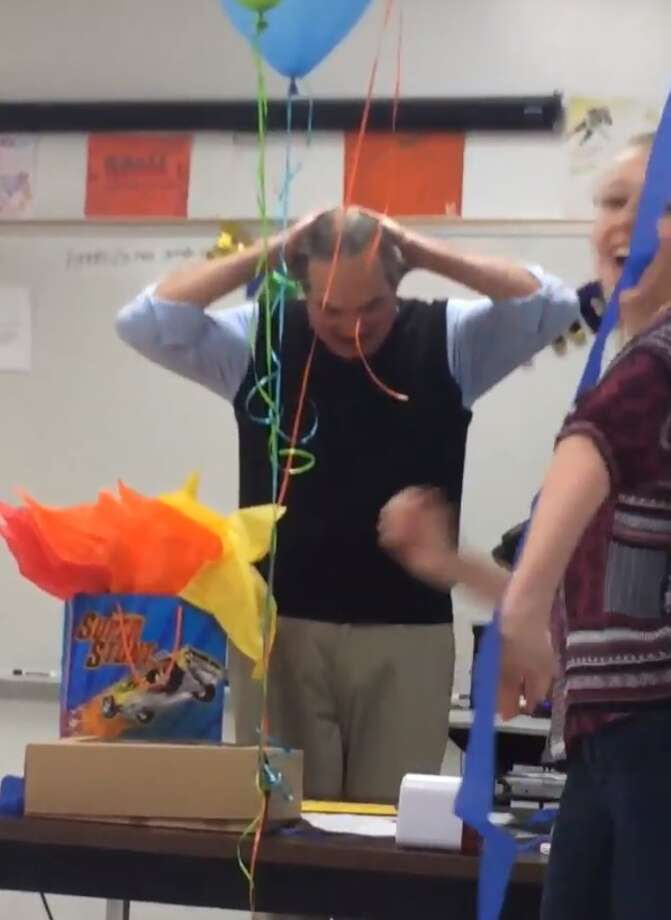 Teachers are usually the ones with classroom surprises up their sleeves, but in Burleson, it was the students who caught their teacher off guard with a surprise birthday party that has warmed the hearts of thousands on social media. Photo: Twitter.com
