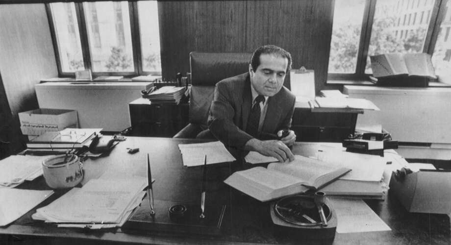 Reluctance to use Scalia's name during phone callWhen Scalia's body was found Feb. 13 in his bed at the Cibolo Creek Ranch, owner John Poindexter was initially vague when reporting the death to authorities,according to the report. Thus, there was a delay in authorities responding to the call.Pictured: Scalia is shown in 1986. Photo: PAUL HOSEFROS, New York Times