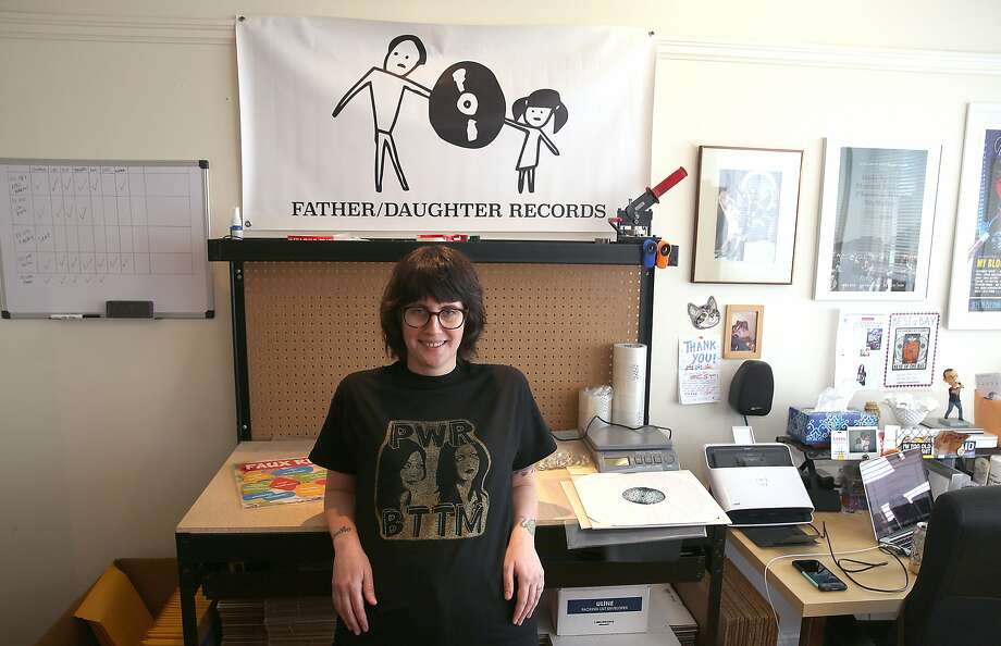 Jessi Frick of Father/Daughter Records shows her home office in San Francisco , California, Friday,  February 12, 2016. Photo: Liz Hafalia, The Chronicle