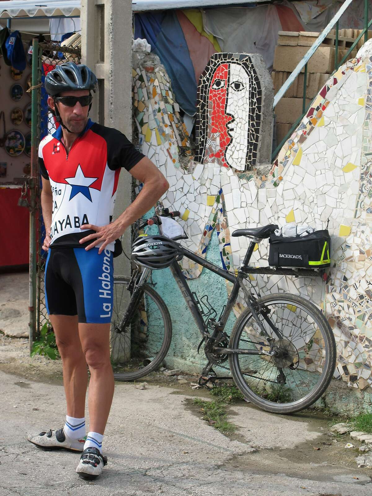 Members of the Cuba Cycling Team in the town of Playa Jaimanitas, also called