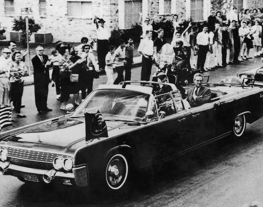 SAN ANTONIO - NOVEMBER 21: The Presidential motorcade with Texas governor John Connally, first lady Jackie Kennedy and President John F. Kennedy on November 21, 1963 in San Antonio, Texas, the day before John F. Kennedy, 35th President of the United States, was assassinated. Photo: Library Of Congress, Getty Images / Archive Photos