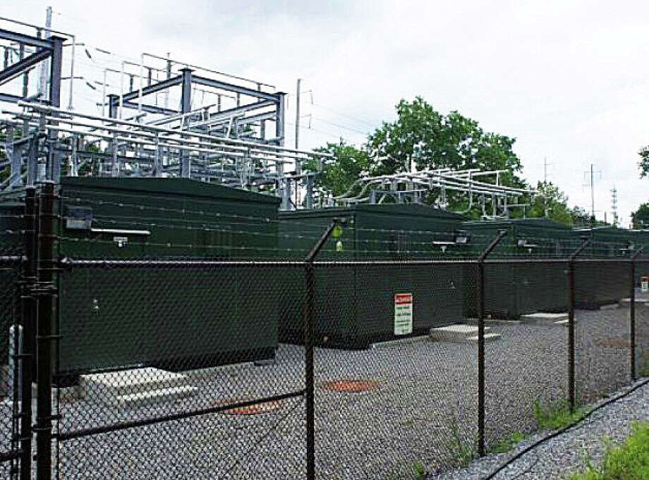 This Connecticut Light & Power substation near the Greens Farms Railroad Station is one of the holdings that again placed the electric utility at the top of the town's list of biggest taxpayers in 2015. Photo: Westport News / File Photo / Westport News