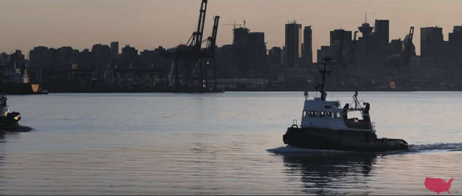 "A scene of Canada's Vancouver Harbour? That's where we seem to be in the opening shot of Marco Rubio's new ""Morning Again in America"" ad.