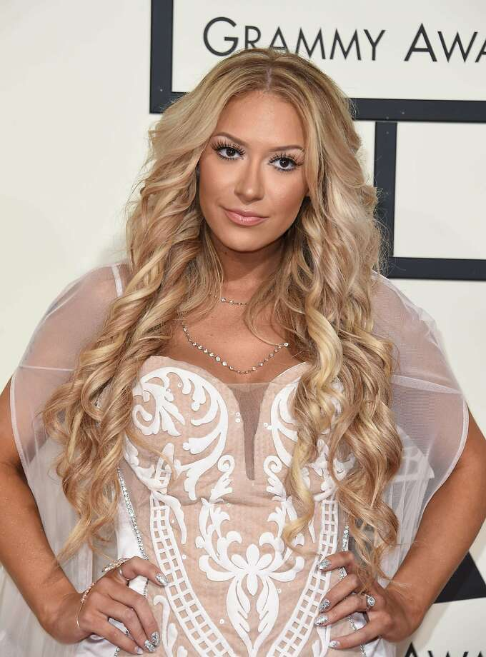 Ex-Pussycat Dolls member Kaya Jones arrives on the red carpet for the 58th Annual Grammy music Awards in Los Angeles February 15, 2016. AFP PHOTO/ VALERIE MACONVALERIE MACON/AFP/Getty Images Photo: Valerie Macon, AFP / Getty Images