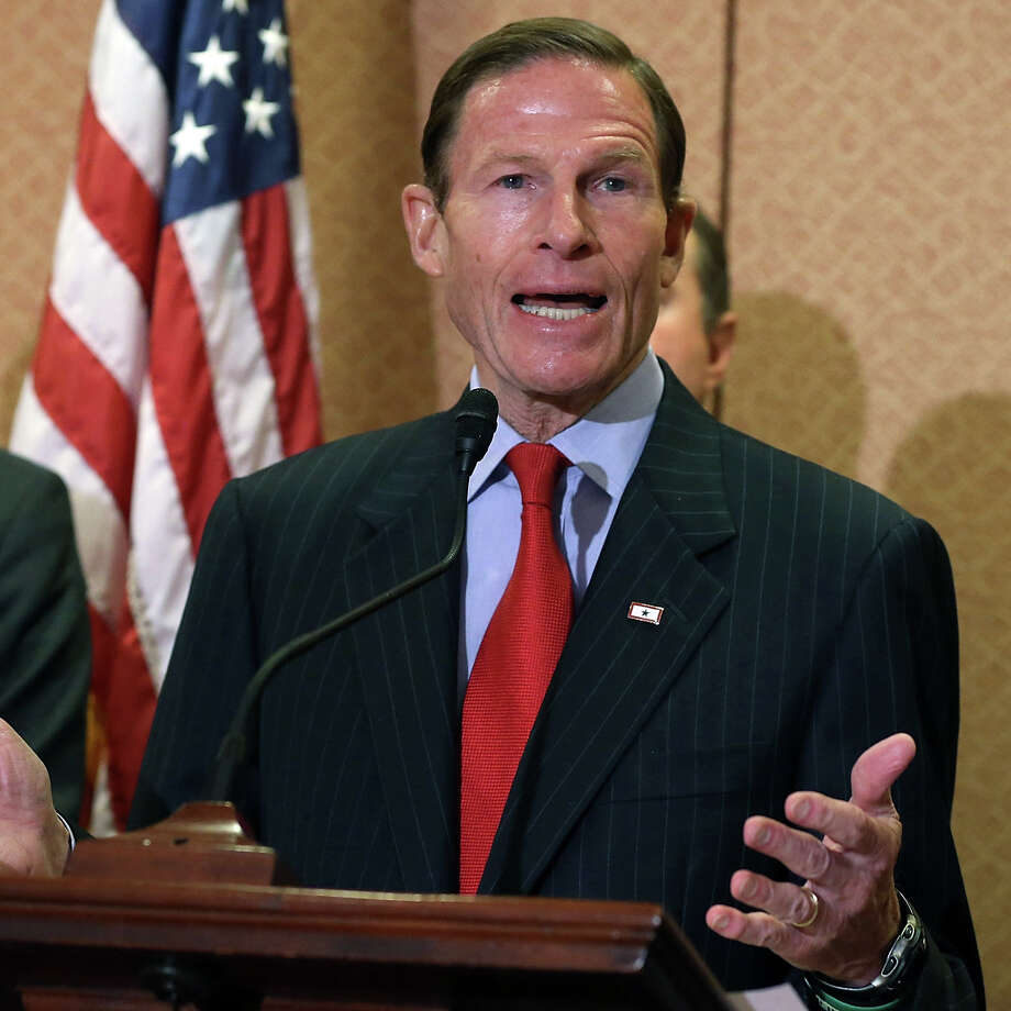 Sen. Richard Blumenthal (D-CT) speaks on Capitol Hill January 27, 2016 in Washington, DC. Photo: Mark Wilson/Getty Images / Getty Images / Getty Images