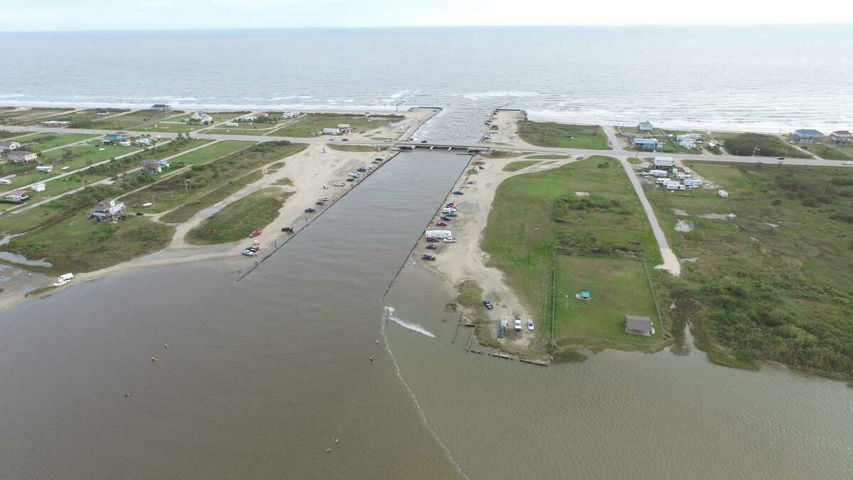 Fate of Rollover Pass, one of the most popular bank-fishing spots on the Texas coast, likely rests in what its owners say is a last-ditch legal battle to keep it open. Photo courtesy of Texas General Land Office