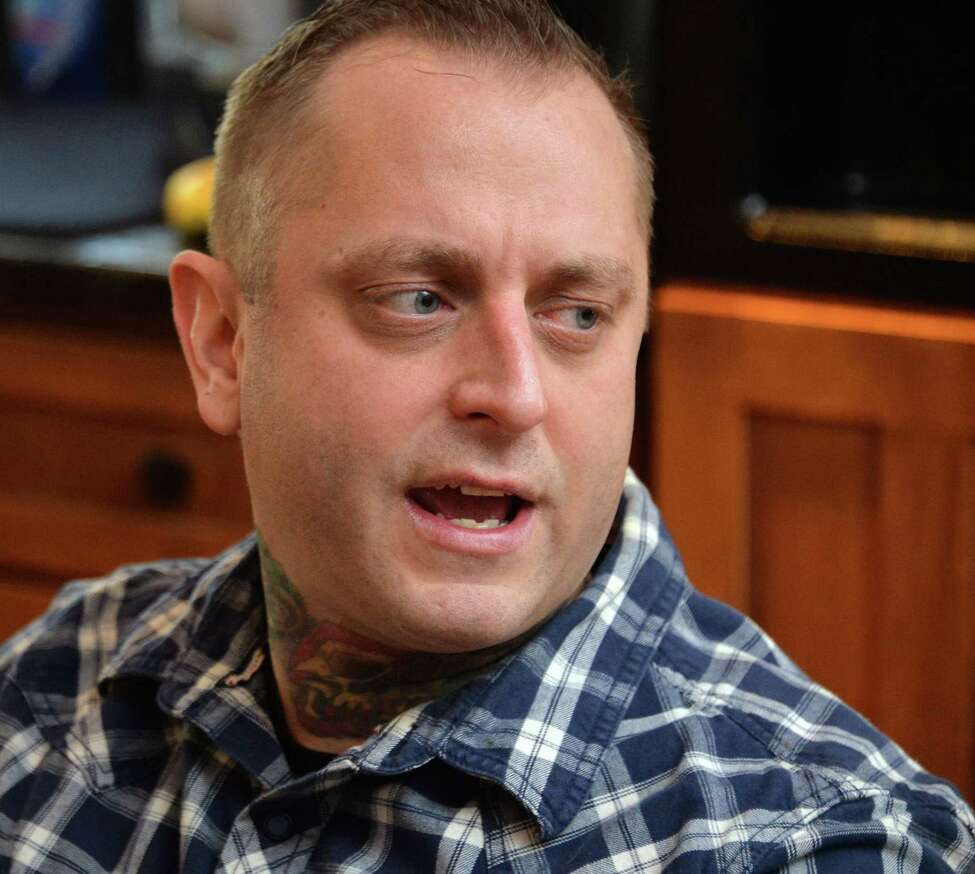 Dylan McDonnell discusses Friedreich's Ataxia (FA), a debilitating, degenerative, neuromuscular disorder that has left him in a wheelchair, on Friday, Feb. 12, 2016,during an interview at his home in Ganesvoort, N.Y. (John Carl D'Annibale / Times Union)