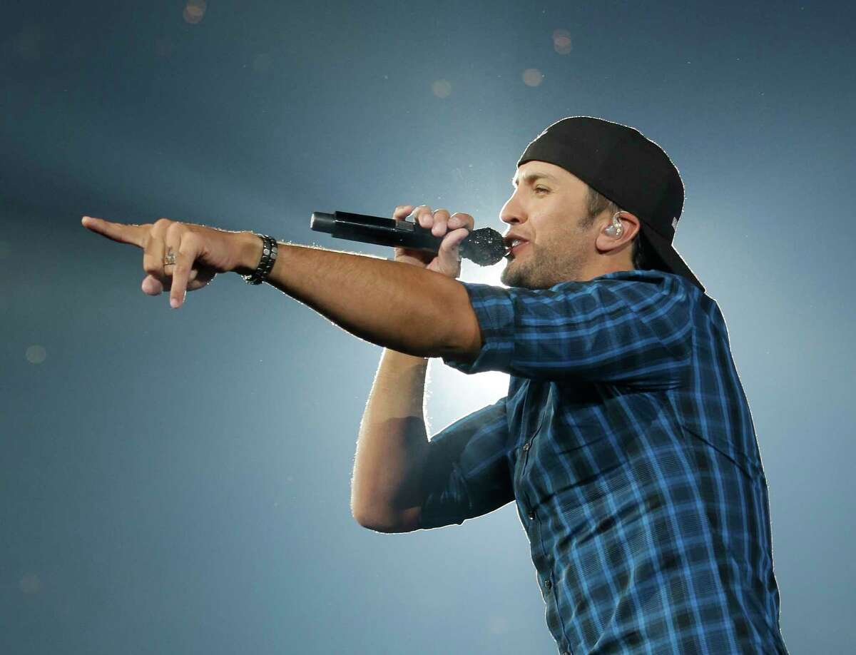 Luke Bryan performs during RodeoHouston at the Houston Livestock Show and Rodeo in NRG Stadium Sunday, March 22, 2015, in Houston. ( Melissa Phillip / Houston Chronicle )