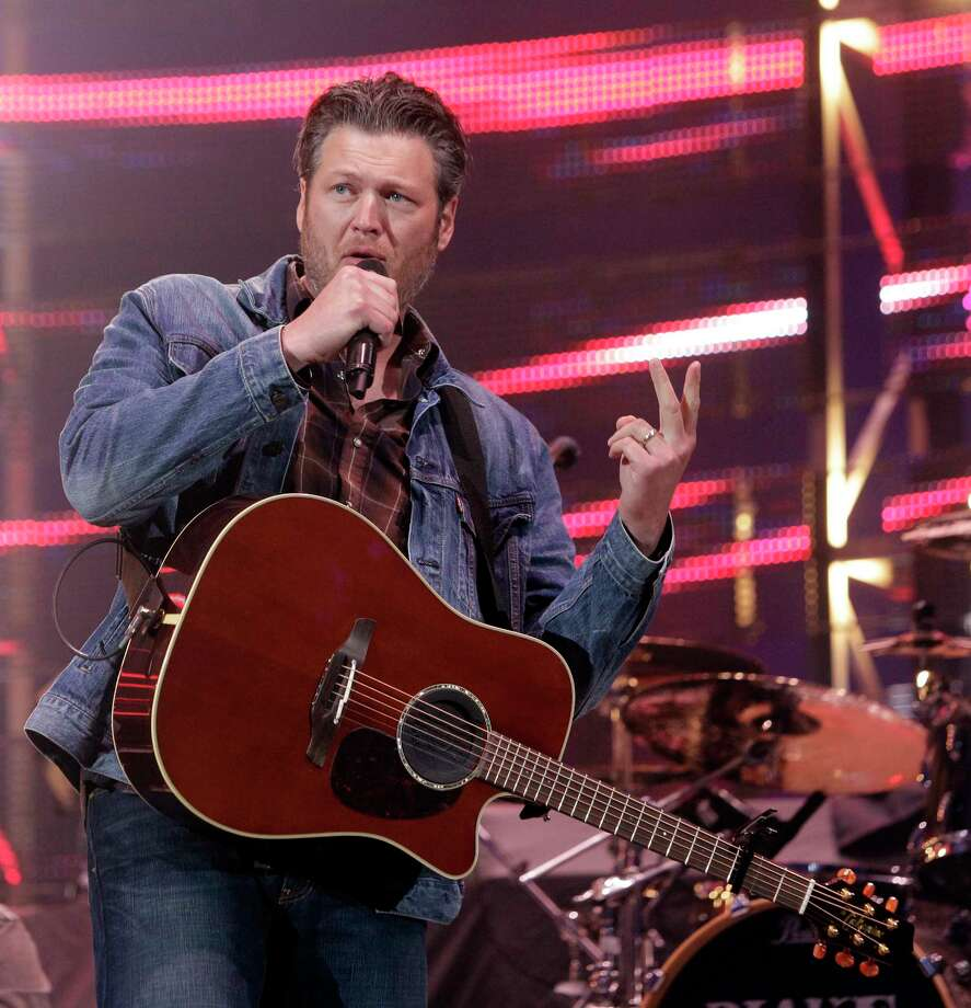 Blake Shelton performs during RodeoHouston at the Houston Livestock Show and Rodeo in NRG Stadium Thursday, March 19, 2015, in Houston. ( Melissa Phillip / Houston Chronicle ) Photo: Melissa Phillip, Staff / © 2014  Houston Chronicle