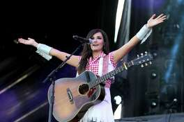 LAS VEGAS, NV - SEPTEMBER 20:  Singer Kacey Musgraves performs onstage during the 2014 iHeartRadio Music Festival Village on September 20, 2014 in Las Vegas, Nevada.  (Photo by Isaac Brekken/Getty Images for Clear Channel)