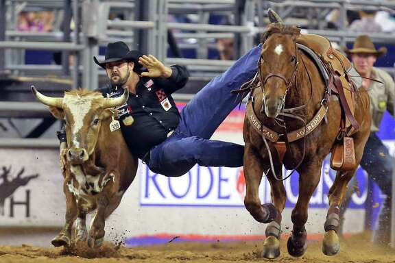 Luke Branquinho of Los Alamos, Calif., will compete in steer wrestling at the 2016 Houston Livestock Show and Rodeo.