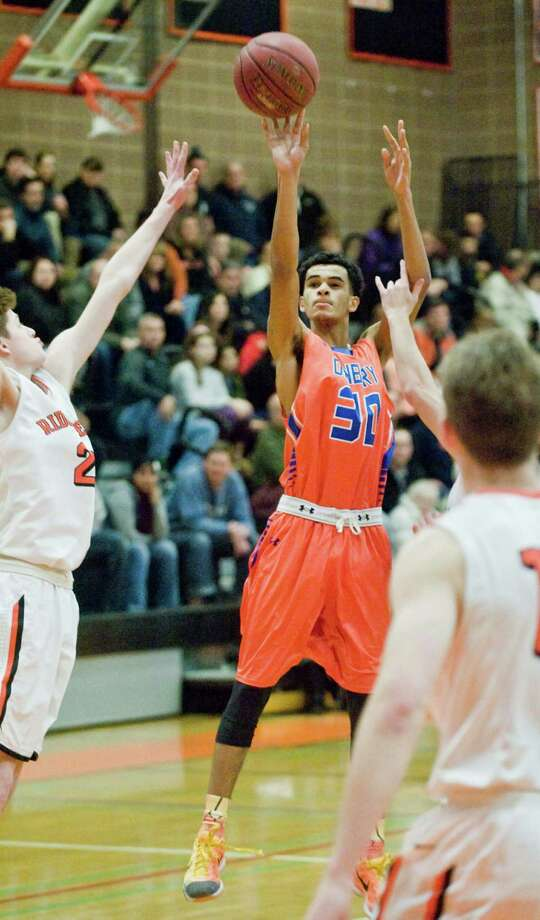 Danbury High School boys basketball vs Ridgefield High School, played at Ridgefield. Monday, Feb. 15, 2016 Photo: Scott Mullin / For Hearst Connecticut Media