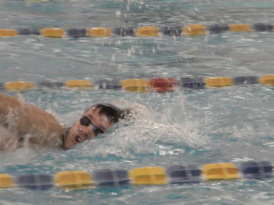 Weston senior captain Zane Randell led the Trojans to the Class S title and plans to swim in college. Photo: Contributed Photo / Nancy Winikoff