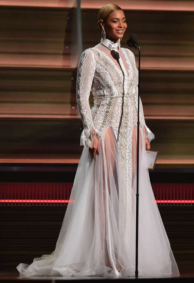 Beyonce - Best. Everyone was worried Bey wasn't going to The Grammys after she was a no-show on the red carpet, but she shocked us all when she came out in this angelic frock. Brava! Photo: Robyn Beck, AFP / Getty Images