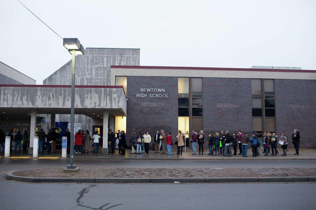 Newtown High School file photo.