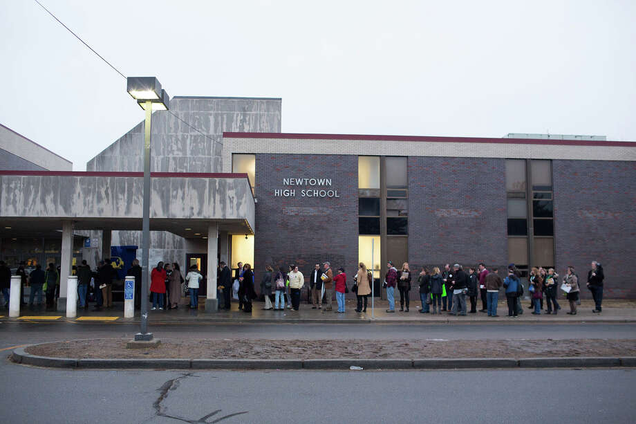 Newtown High School file photo. Photo: Christopher Capozziello / Getty Images / 2013 Getty Images