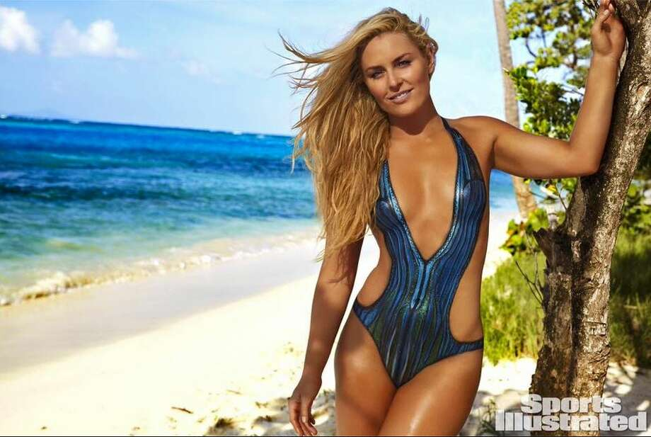 Lindsey Vonn, an Olympic skier, goes under the brush for a body paint swimsuit edition for Sports Illustrated. She joins UFC fighter Ronda Rousey and other models and athletes for the 2016 swimsuit issue. Photo: Courtesy Facebook/ Sports Illustrated