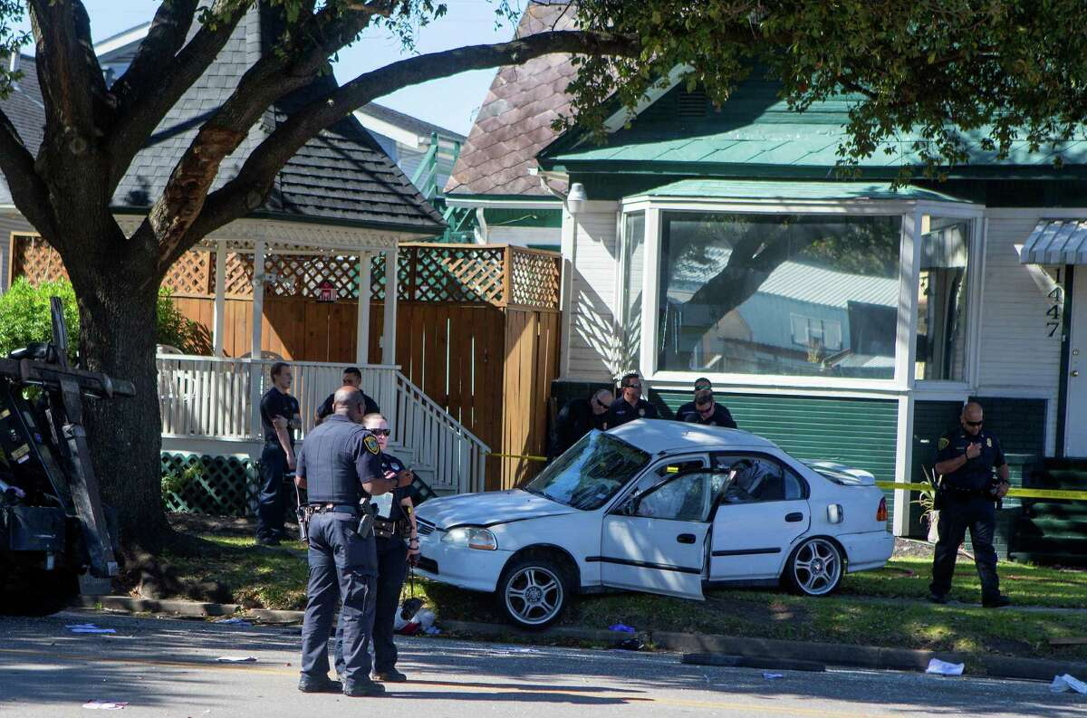 Authorities investigate the scene of a fatal accident along Yale near W. 15th Street on Feb. 16.