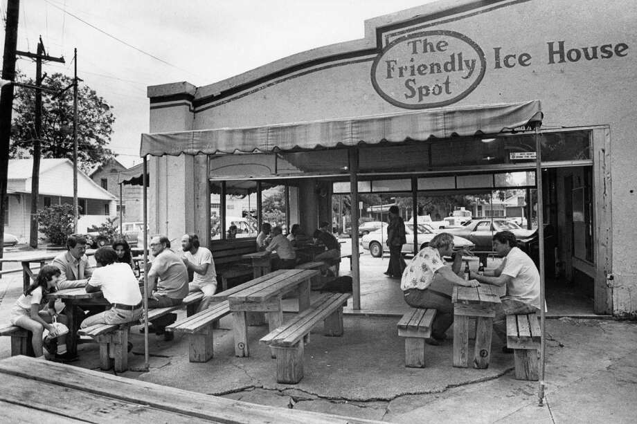 The original Friendly Spot ice house was located in a converted 1930s gas station on corner of Alamo and Beauregard streets, and in its heyday from about 1973 to 1981, it was a hotspot for San Antonio roots music. Photo: San Antonio Express-News