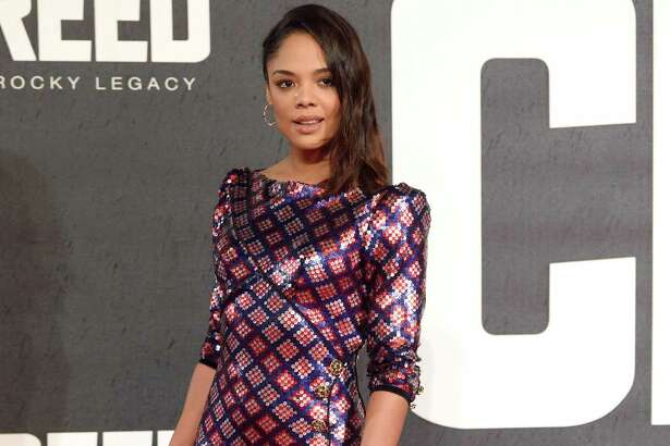 Tessa Thompson attends the European Premiere of 'Creed' on January 12, 2016 in London, England. (Karwai Tang)