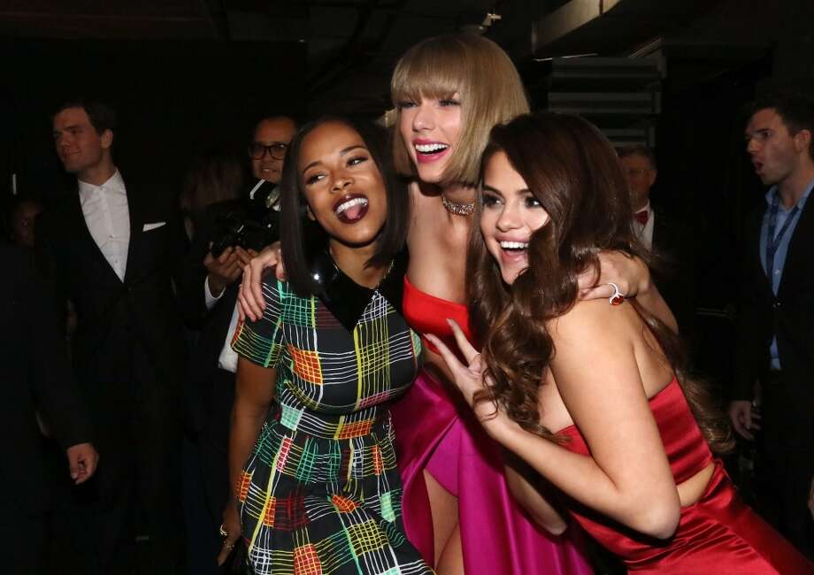 Actress Serayah McNeill, singer Taylor Swift and actress/singer Selena Gomez attend The 58th GRAMMY Awards at Staples Center on February 15, 2016 in Los Angeles. Photo: Mark Davis/WireImage