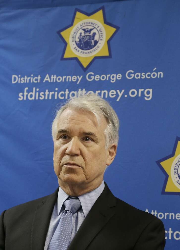 San Francisco District Attorney George Gascón is shown at a news conference in San Francisco, Tuesday, Feb. 16, 2016. (AP Photo/Jeff Chiu)
