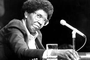 """Delivering the 1976 Democratic National Convention keynote speech, Barbara Jordan said, """"A spirit of harmony can only survive if each of us remembers, when bitterness and self-interest seem to prevail, that we share a common destiny."""""""