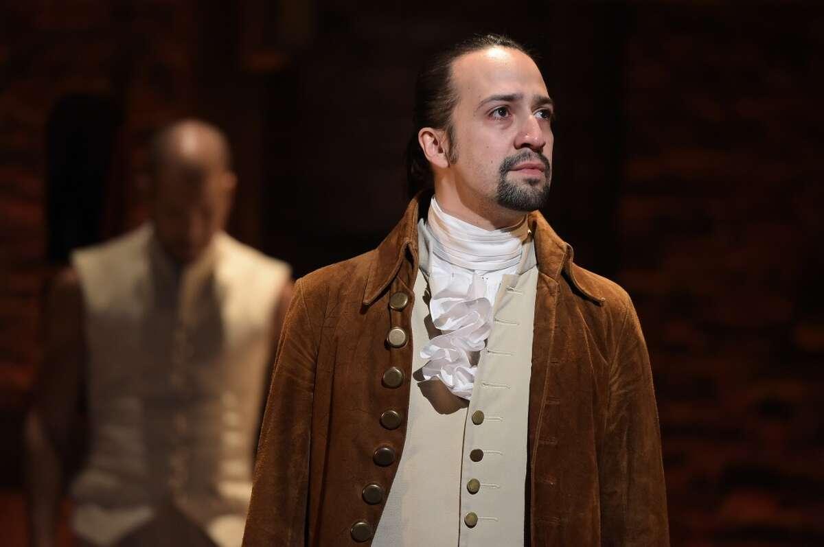 """Lin-Manuel Miranda in """"Hamilton."""" (For more """"Hamilton"""" photos, scroll through the gallery.)"""