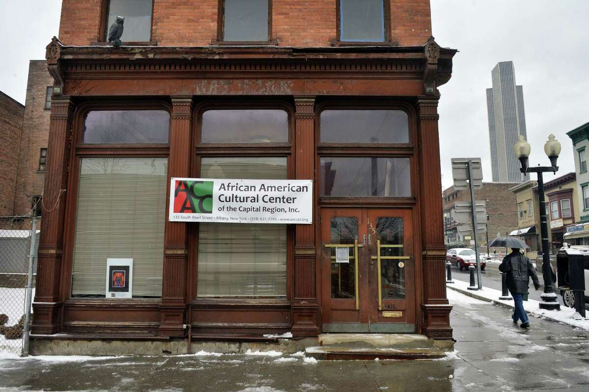 The African American Cultural Center of the Capital Region in a former Key Bank branch at the corner of S. Pearl St. and Madison Ave. Tuesday Feb. 16, 2016 in Albany, NY. (John Carl D'Annibale / Times Union)