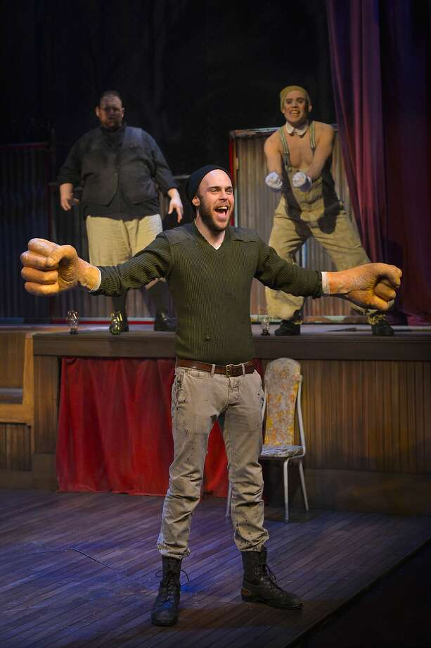 "Big Joe (Ian Merrigan) finds his strength and fists in ""The Unfortunates"" at ACT. Photo: Kevin Berne"