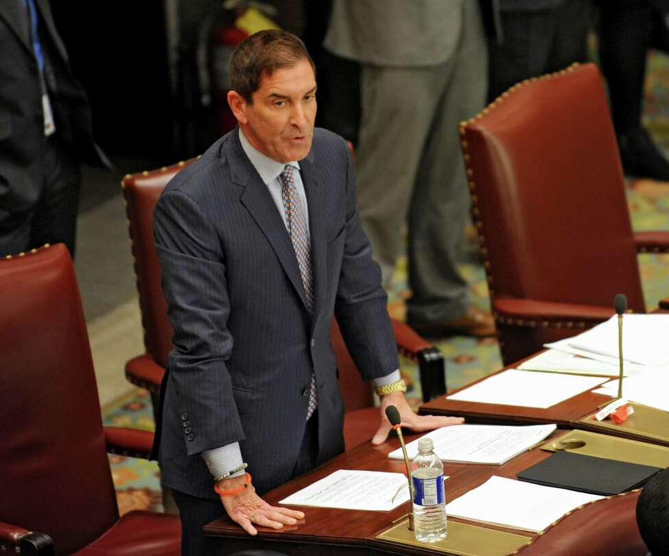Independent Democratic Conference leader, State Senator Jeff Klein speaks at the Capitol on Thursday, Jan. 21, 2016, in Albany, N.Y. (Lori Van Buren / Times Union)