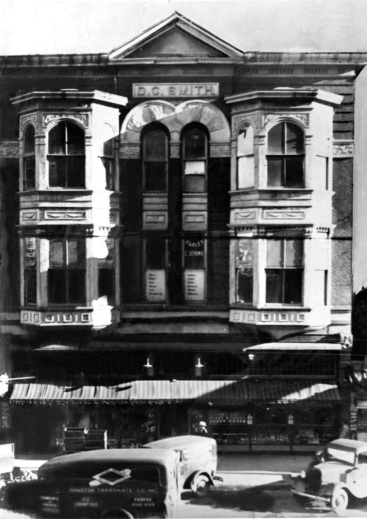 The Chronicle was first published Oct. 14, 1901, in the three-story D.C. Smith Building, at 1009 Texas Ave., between Main and Fannin. The rent was a steep $250 a month, but the paper's founders recovered the cost by subletting two-thirds of the building. After eight years, the growing Chronicle had to move out. In 1936, the building was destroyed by fire. The Binz Building later occupied the site.