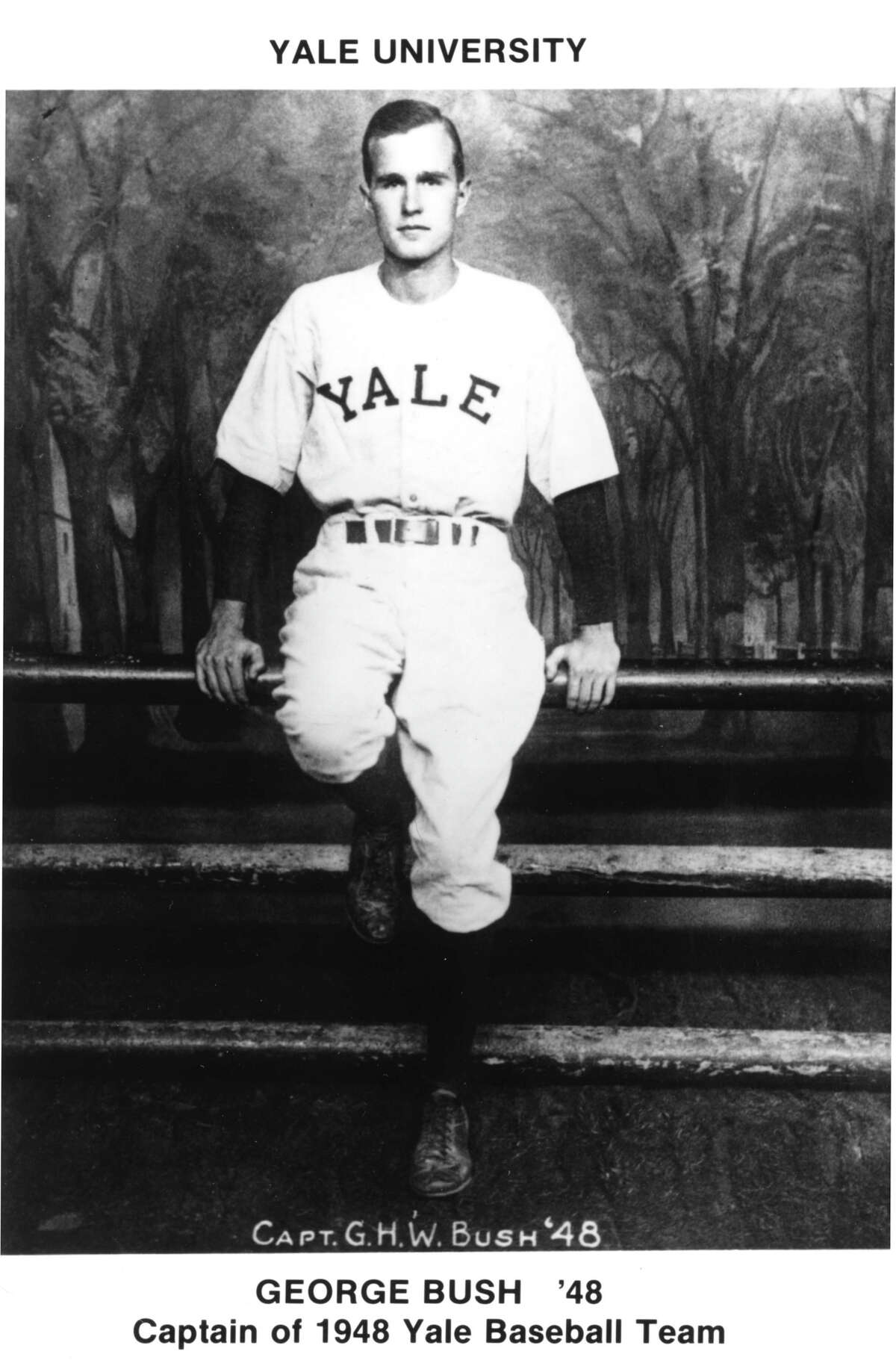 Captain of the 1948 Yale Baseball Team, George H.W. Bush.