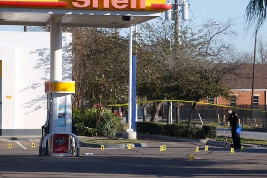 A man was found shot to death inside his car in northeast Houston on Wednesday morning, Feb. 17, 2016. Photo: Cody Duty   Houston Chronicle