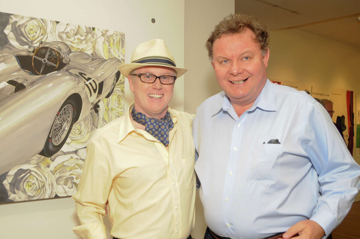 Clearview Investment founder Charles Mallory, right, with artist Steven Vaughan. Clearview portfolio company Greenwich Hospitality Group is in the process of acquiring a stake in the former Goodwin Hotel property in Hartford, with the deal slated to close in mid-March.