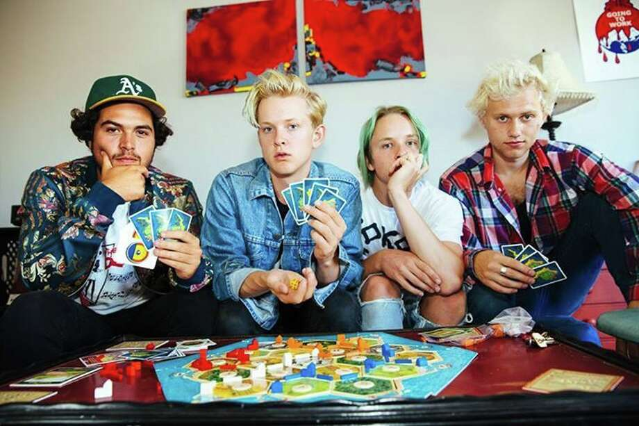 "Oakland punk band SWMRS, pronounced ""Swimmers."" (L-R): Joey Armstrong, Max Becker, Cole Becker and Seb Mueller. Photo: Courtesy Photo"