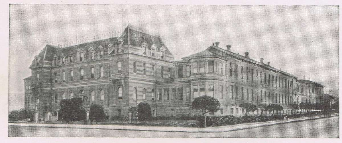 """French Hospital, current location of Kaiser, on Geary, between 5th and 6th Avenue in the Richmond District. A reader reports that the French Hospital was still in existence in the mid-1970's. The same French Society from the 1920's still ran it in the '70's. If you look at Anza between 5th and 6th Ave. - the brick building in part of the original French Hospital. The more """"modern"""" building you are referring to on Geary was around in the '70's and was for private doctors offices. Medical journal from 1924. From the collection of Bob Bragman"""