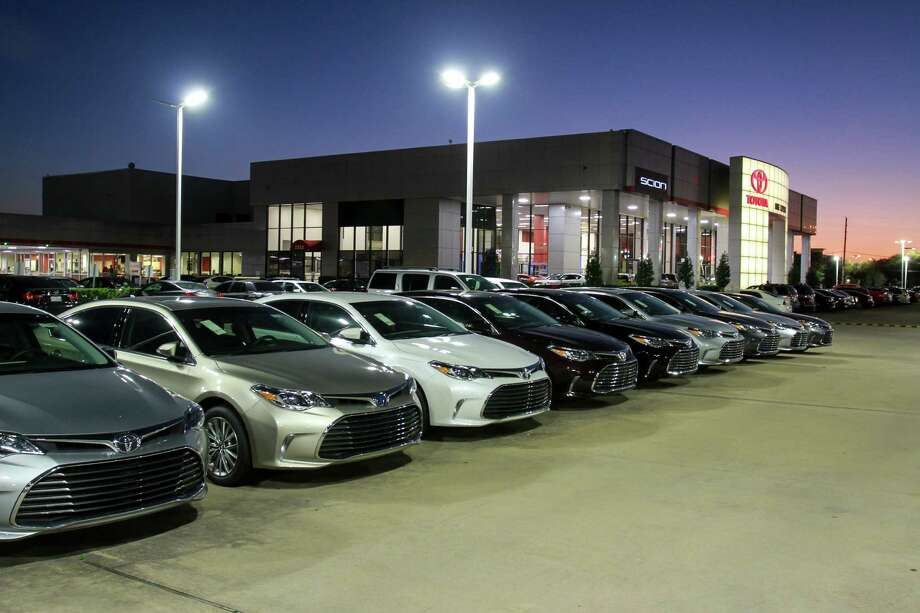 Revolux LED Solutions, a Houston company that upgrades the lighting at automobile dealerships, recently changed the Mike Calvert Toyota's lights to LEDs. Photo: Gary Fountain, For The Chronicle / Copyright 2016 Gary Fountain