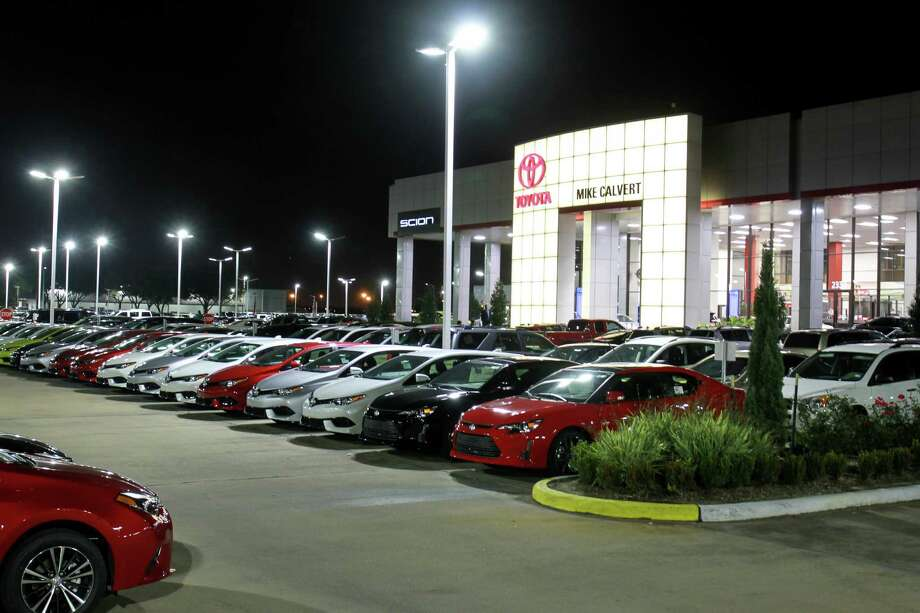 Mike Calvert Toyota is saving about $10,000 a month on its power and maintenance bills by switching to LEDs. Photo: Gary Fountain, For The Chronicle / Copyright 2016 Gary Fountain