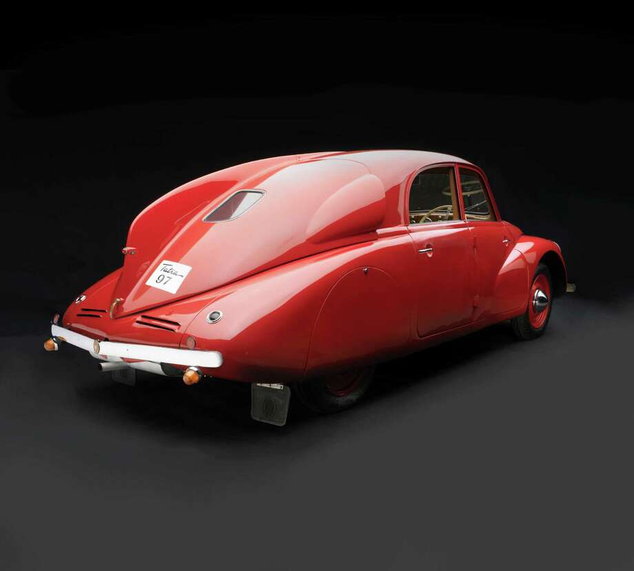"One of the fab Art Deco vehicles of the exhibition ""Sculpted in Steel,"" on view Feb. 21-May 30 at the Museum of Fine Arts, Houston:  Hans Ledwinka, Tatra, T97, 1938, collection of the Lane Motor Museum. Image  2008 Peter Harholdt test 044 Photo: Peter Harholdt / ©2008 Peter Harholdt"