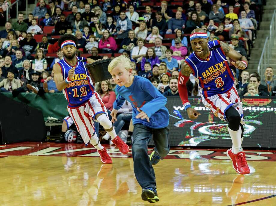 The Harlem Globetrotters come to Bridgeport arena on Friday to spread laughter and involve the audience in highjinx. Find out more. Photo: Contributed Photo